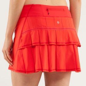 NEW RARE Red Lululemon Pace Setter Skirt Skort 6